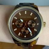 Michael Kors Accessories   Michael Kors Tortoise Shell Watch   Color: Brown   Size: Os