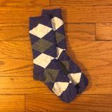 J. Crew Accessories | J.Crew Purple Argyle Socks | Color: Gray/Purple | Size: Os