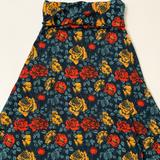 Lularoe Skirts | Floral Print Maxi Skirt | Color: Blue/Red | Size: S