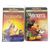 Disney Other | Disney Pocahontas Mickeys Once Upon Christmas Vhs | Color: Gold | Size: Os