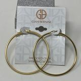 Giani Bernini Jewelry | 18k Gold Over Sterling Silver Round Hoop Earrings | Color: Gold | Size: 50mm