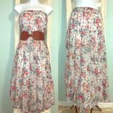 Zara Skirts | Floral Print Long Skirt - Trf Collection By Zara | Color: Orange/White | Size: M