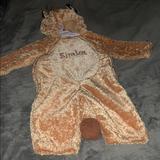 Disney Costumes | Authentic Disney Simba Costume 18mo Onesie | Color: Orange/Tan | Size: 18 Months