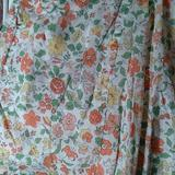 American Eagle Outfitters Skirts | Floral Print Skirt | Color: Green/Orange | Size: Xs
