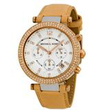 Michael Kors Accessories   Michael Kors Parker Chronograph Tan Leather Watch   Color: Gold/Tan   Size: Os