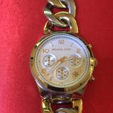 Michael Kors Accessories | Michael Kors Women'S Two-Tone Chronograph Watch | Color: Gold/Silver | Size: Fits Size 6 Wrist.