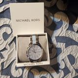 Michael Kors Accessories | Michael Kors Watch | Color: Blue/Silver | Size: Os
