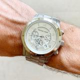 Michael Kors Accessories   Michael Kors Silver Oversized Runway Mens Watch   Color: Silver   Size: Os