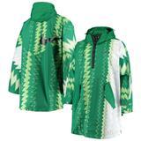 """Nike Nigeria National Team Green Half-Zip Hoodie Poncho"""