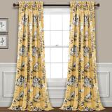 Lush Decor 2-pack French Country Toile Room Darkening Window Curtain Set, Multicolor, 52X95