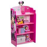 Disney's Minnie Mouse Wooden Playhouse 4-Shelf Bookcase for Kids by Delta Children, Multicolor