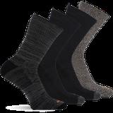 Merrell 4 Pack Crew Sock, Size: S/M, Multi Black