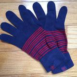 Adidas Accessories | Adidas Navy With Red Stripes Gloves | Color: Blue/Red | Size: Os