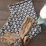 Michael Kors Accessories   Micheal Kors Infinty Scarf And Gloves   Color: Black/Tan   Size: Os