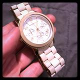 Michael Kors Accessories   Michael Kors White Watch   Color: Gold/White   Size: Os