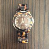 Michael Kors Accessories   Michael Kors Tortoise Shell Watch   Color: Brown/Tan   Size: 5 38 Band +2 Back Of Face