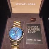 Michael Kors Accessories | Michael Kors Watch Hunger Stop Watch | Color: Blue | Size: Os