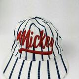 Disney Accessories   Disney Men'S Adult White Striped Mickey Hat   Color: Red/White   Size: Os