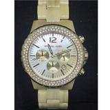 Michael Kors Accessories   Michael Kors Mk5558 Womens Gold Tone Wrist Watch   Color: Cream/Gold   Size: 612 Inch Band