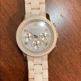 Michael Kors Accessories | Micheal Kors Womans Watch | Color: White | Size: Os