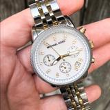 Michael Kors Accessories   Ladies Michael Kors Ritz Chronograph Watch   Color: Gold/Silver   Size: Os