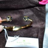 Kate Spade Jewelry | Kate Spade Lady Marmalade Black Diamond Bracelet | Color: Black/Gold | Size: Os