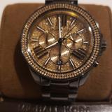 Michael Kors Jewelry | Michael Kors Chronograph Ladies Watch | Color: Black/Gold | Size: Os
