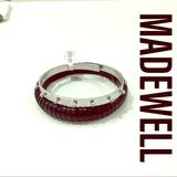 Madewell Accessories | Madewell Leather Bangle X Statement Cuff Nwt | Color: Black/Silver | Size: Os