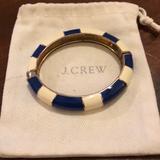 J. Crew Jewelry | J. Crew Enamel Magnetic Close Bracelet | Color: Blue/White | Size: Os
