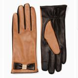 Kate Spade Accessories | Kate Spade Touchscreen Leather Gloves Large | Color: Brown/Tan | Size: Large