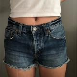 Free People Shorts | Free People Vintage-Inspired Denim Shorts | Color: Blue | Size: 25