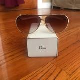Gucci Accessories   Dior Womens Aviator Sunglasses   Color: Cream   Size: Os