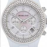 Michael Kors Accessories | Michael Kors Women Watch | Color: White | Size: Os