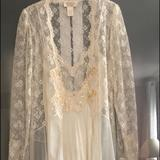 Victoria's Secret Intimates & Sleepwear | Night Gown And Robe | Color: Cream | Size: S
