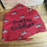 Disney Accessories | Disney Cruise Pirates Of The Caribbean Bandana Red | Color: Black/Red | Size: Os