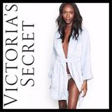 Victoria's Secret Intimates & Sleepwear | New Vs The Cozy Hooded Short Robe | Color: Blue | Size: Various