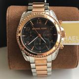 Michael Kors Accessories | New Michael Kors Silver And Rose Gold Watch Mk6093 | Color: Gold/Pink | Size: Os