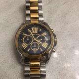 Michael Kors Accessories | Michael Kors Watch Mk-5977 Womens Watch Navy | Color: Gold/Silver | Size: Os