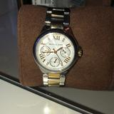 Michael Kors Accessories   Michael Kors Silver And Gold-Tone Stainless Watch   Color: Gold/Silver   Size: Os