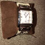 Michael Kors Accessories   Mk Womens Python Watch   Color: Brown/Cream   Size: Os