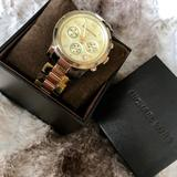 Michael Kors Accessories | Michael Kors Chronograph Watch. | Color: Black/Brown | Size: Os