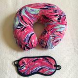 Lilly Pulitzer Accessories   Lilly Pulitzer Travel Pillow And Eye Mask Set   Color: Pink/Purple   Size: Os