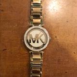 Michael Kors Accessories | Michael Kors Diamond Bezel Watch | Color: Gold | Size: Os