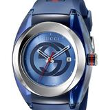 Gucci Accessories | Gucci Sync Xxl Blue Rubber Unisex Watch Ya137104 | Color: Blue | Size: Os