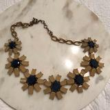 J. Crew Jewelry | J Crew Necklace | Color: Blue/Gold | Size: 16 From Hook To Eye