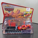 Disney Other | Disney Diecast Launch & Race Pit Row Ltng Mcqueen | Color: Red | Size: Single Diecast Car Set