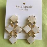 Kate Spade Jewelry | Kate Spade Pearl Cove Chandelier Cream Earrings | Color: Cream/Gold | Size: Os