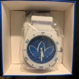 Adidas Accessories | New Silicon Working Adidas Watch | Color: Blue/White | Size: Os