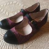 Anthropologie Shoes | Anthropologie All Black Mary Jane Shoes | Color: Black/Purple | Size: Eu 39