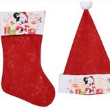 Disney Accessories   Disney Mickey Mouse Santa Hat & Christmas Stocking   Color: Red/White   Size: Various